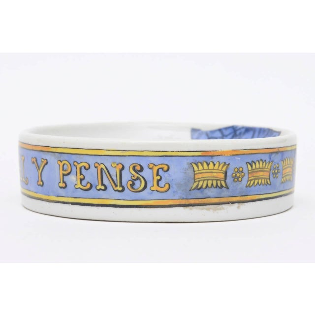1950s Fornasetti Hallmarked Gilded Porcelain Buckle Bowl or Dish For Sale - Image 5 of 9