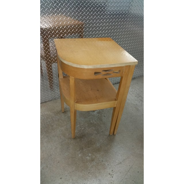 Vintage Superior Swing Out Chair & Telephone Desk - Image 4 of 6