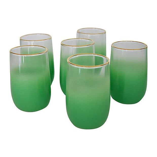 1960s Green Blendo Tumblers - Set of 6 - Image 1 of 2