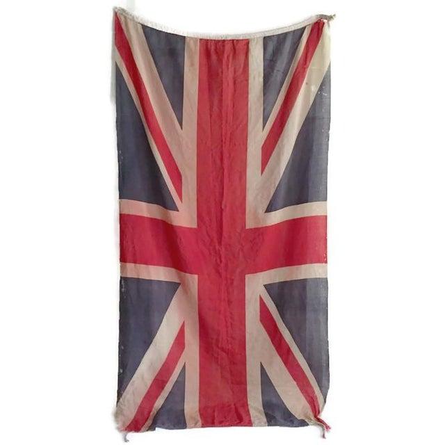 Vintage Union Jack Paper Thin Distressed Flag - Image 7 of 10