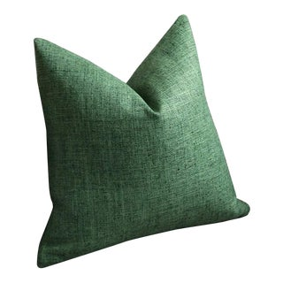 Dark Green Woven Pillow Cover 16x16 For Sale