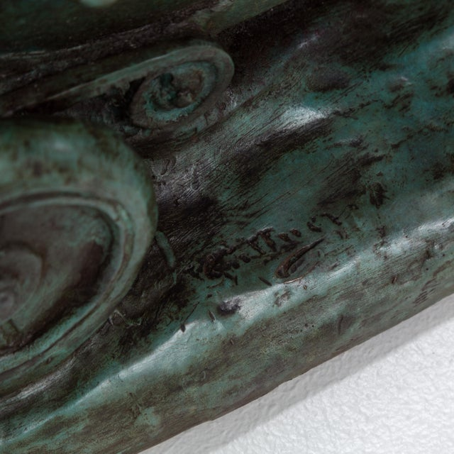 Green A Bronze Cast of a Mercedes Blitzen Benz by Talisman For Sale - Image 8 of 8