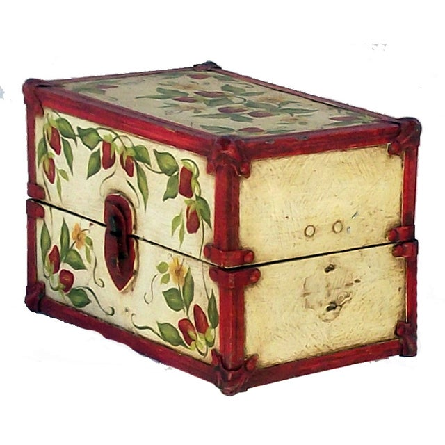 Vintage Hand Painted Doll Trunk - Image 3 of 4