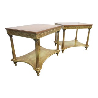 Hollywood Regency Gold Gilt End Tables - a Pair For Sale