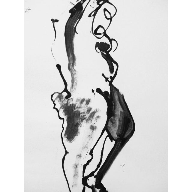 Martha Holden Nude Ink Drawing - Image 4 of 5