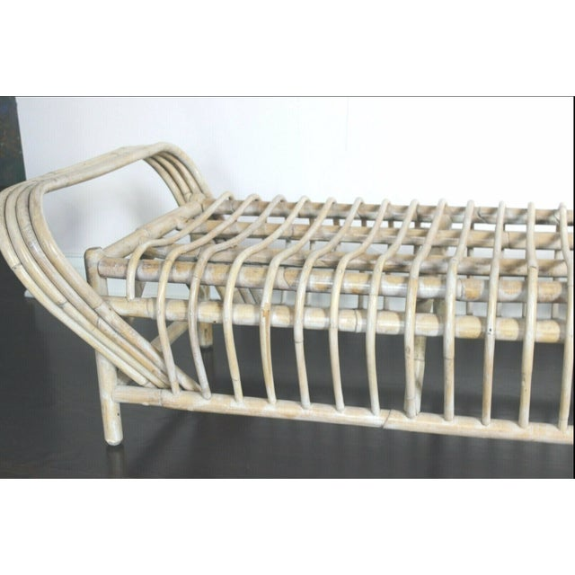 Mid 20th Century Vintage Mid Century Bamboo Bentwood Sculptural Bench For Sale - Image 5 of 8