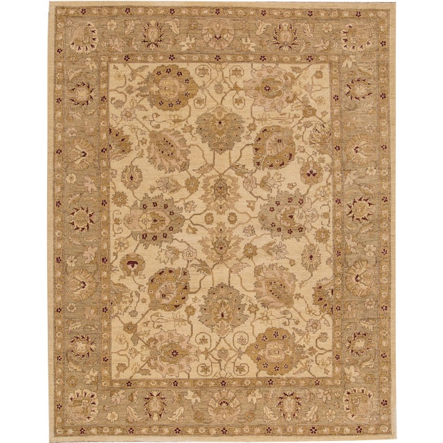 "Apadana Peshawar Rug - 7'11"" x 10' For Sale"