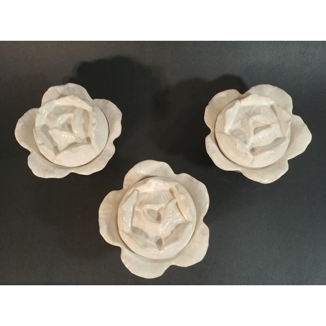 Mid-Century Italian Ceramic Cabbage Bowls - Set of 3 For Sale - Image 9 of 9