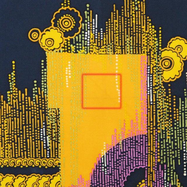 1970s Vintage Christian Dior Paris Geometric Print Silk Twill Scarf For Sale - Image 9 of 10