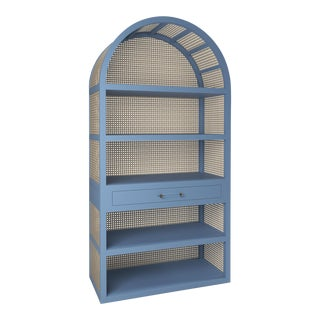 Leila Etagere Bookcase- Summer Mist Blue For Sale