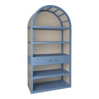 Leila Etagere Bookcase- Summer Mist Blue For Sale