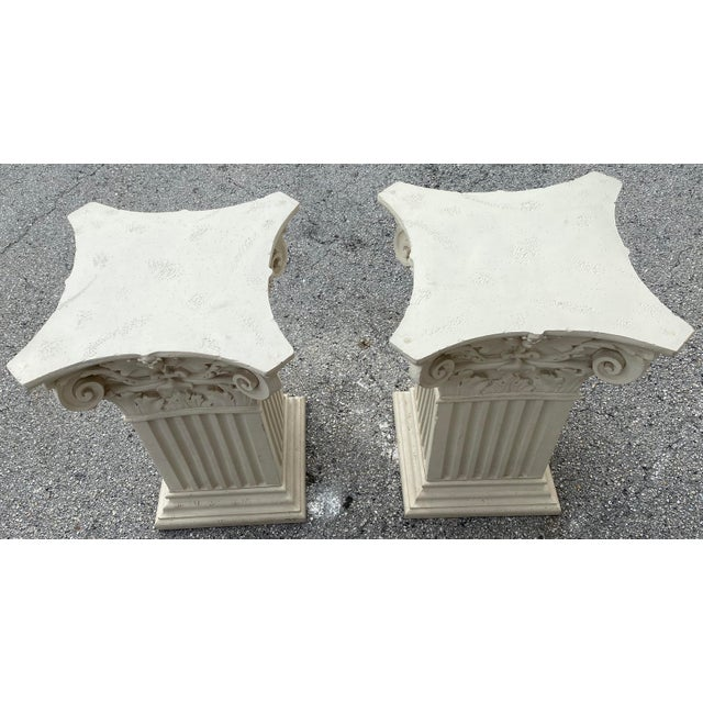 1980s 1980s Corinthian Acanthus Roman Dining Table Greek Table Base - 2 Pieces For Sale - Image 5 of 10