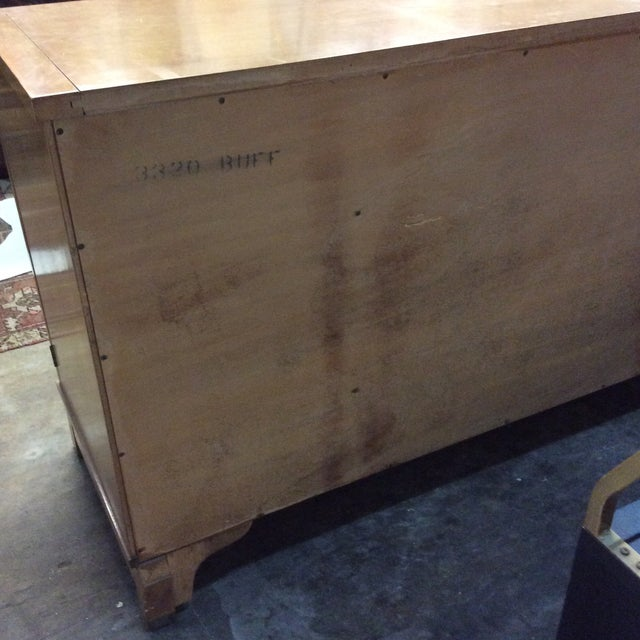 American of Martinsville Solid Wood Buffet Side Board Credenza For Sale - Image 10 of 11