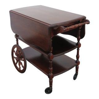 Drop Leaf Bar Liquor Tea Cart Wagon Server by Pennsylvania House 2387 For Sale