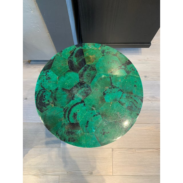 Contemporary Contemporary Capiz Side/Cocktail Table For Sale - Image 3 of 7