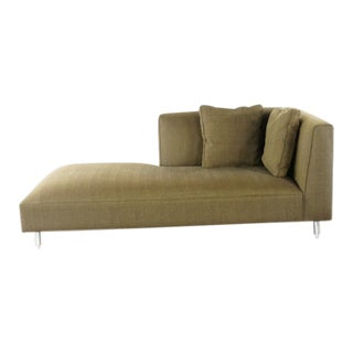 Modern Room and Board Contemporary Upholstered Metal Chaise Lounge For Sale