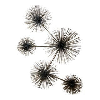 Curtis Jere Signed Five Burst Pinwheel Pom Pom Wall Sculpture For Sale