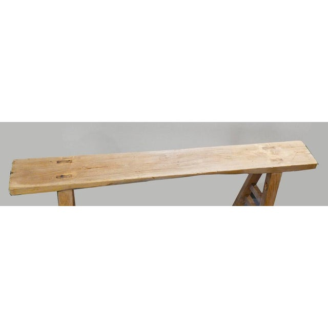 Skinny Rustic Bench For Sale - Image 4 of 6