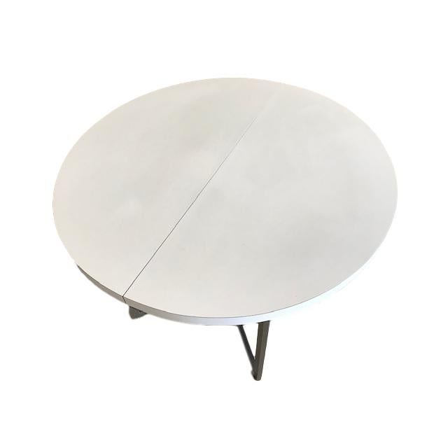 Mid Century Retro Laminate Circular Chrome Base Table For Sale - Image 10 of 10