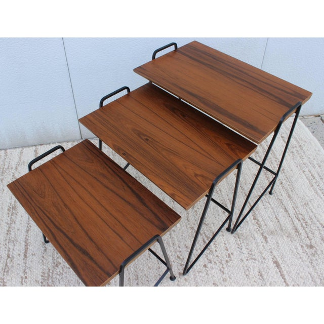 Tony Paul Modernist Nesting Tables For Sale - Image 10 of 11