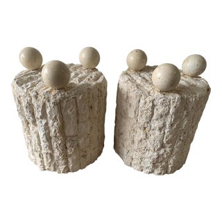 Late 20th Century Mactan Stone Side Tables - a Pair For Sale