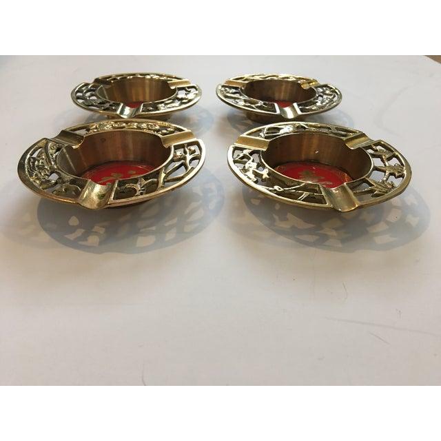 Brass Asian Ashtrays - Set of 4 - Image 7 of 9