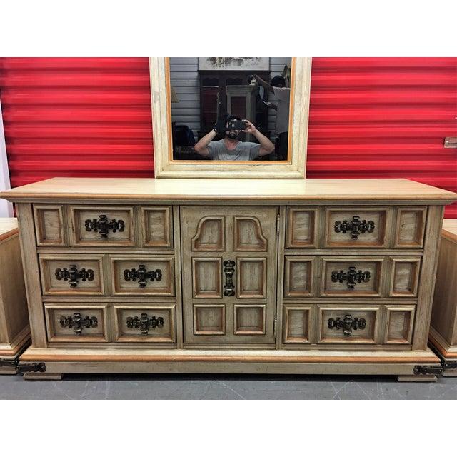 Vintage Stanley Solid Wood Dresser with Mirror - Image 10 of 10