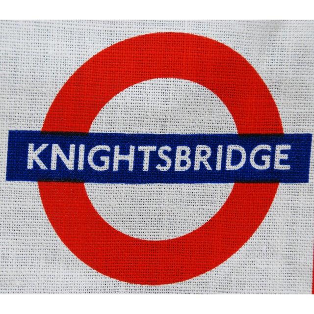 Vintage Harrod's London Underground Knightsbridge Tea Towel - Image 2 of 8