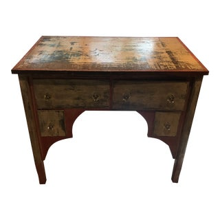 Early 1900s Wooden Crate Desk