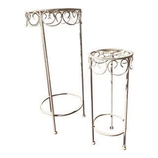 1970's Vintage Nesting Plant Stands - a Pair For Sale