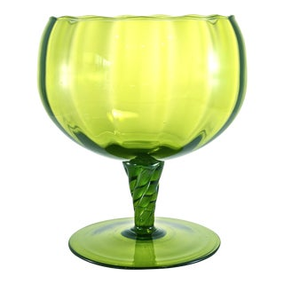 Green Empoli Pedestal Bowl For Sale