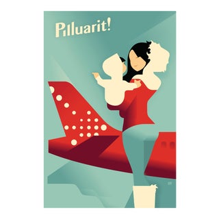 Danish Modern Travel Poster, Air Greenland Pilluarit! For Sale