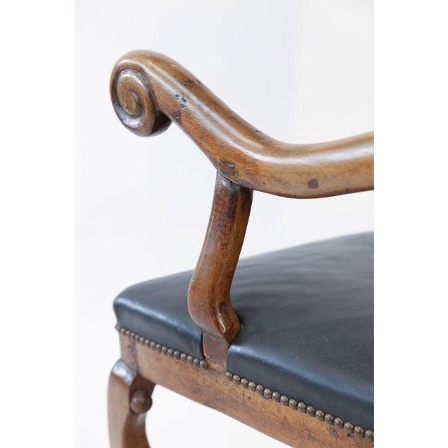 Animal Skin Large Baroque Swedish Armchair For Sale - Image 7 of 13