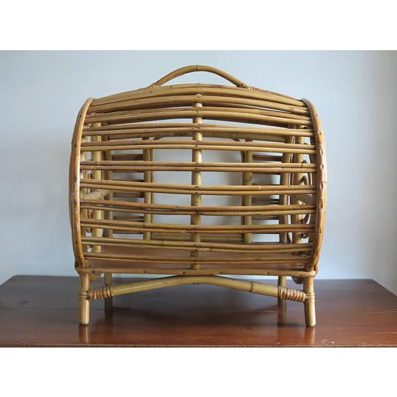 C.1930 Art Deco Abercrombie & Fitch Rattan Bamboo Pet Bed - Image 4 of 8