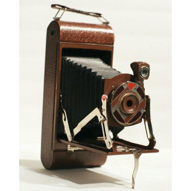 "Art Deco Rare Walter Dorwin Teague Designed Kodak ""1A Gift"" Camera with Case For Sale - Image 3 of 5"