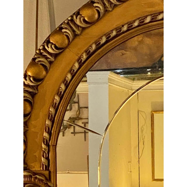 Neoclassical Pair of Neoclassical Wall or Console Mirrors, Giltwood Carved For Sale - Image 3 of 13