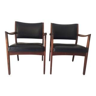 Mid Century Johnson Chair Co. Arm Chairs - a Pair