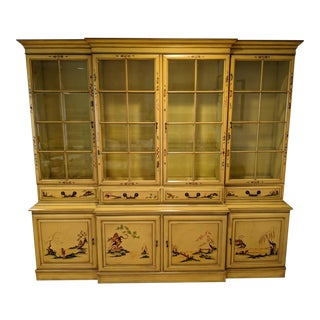 Karges Chinoiserie Breakfront Secretary Cabinet For Sale