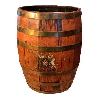 Rustic English Wooden Barrel