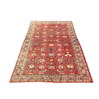 1950s Vintage Persian Rug - 4′4″ × 6′11″ For Sale