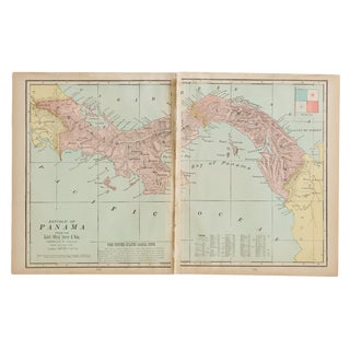 Cram's 1907 Map of Panama For Sale