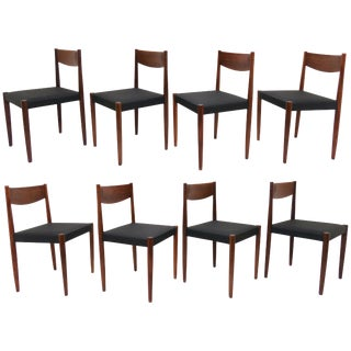 Set of Eight Poul Volther for Frem Rojle Danish Teak Dining Chairs, Circa 1960s For Sale