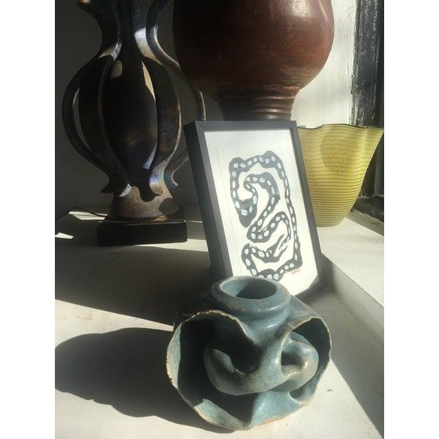 Edna Arnow Ceramic Brutalist Vase - Image 7 of 7
