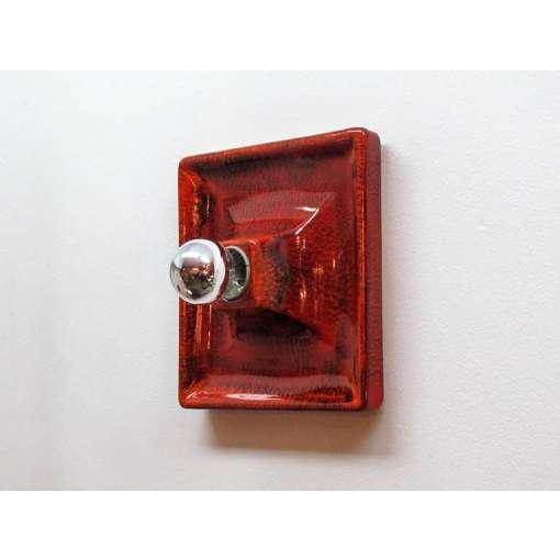 Modern Red Ceramic Wall Sconces - A Pair For Sale - Image 3 of 9
