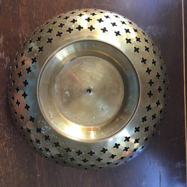 Brass Bowl With Quatrefoil Detail - Image 7 of 11