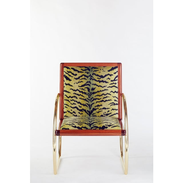Gold Customizable D-Ring Lounge Chair For Sale - Image 8 of 9