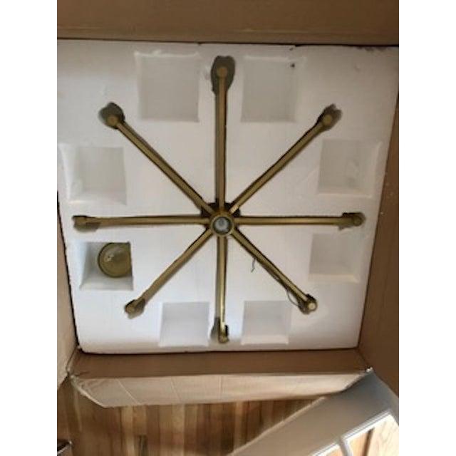 Robert Abbey Round Antique Brass Chandelier - Image 3 of 4