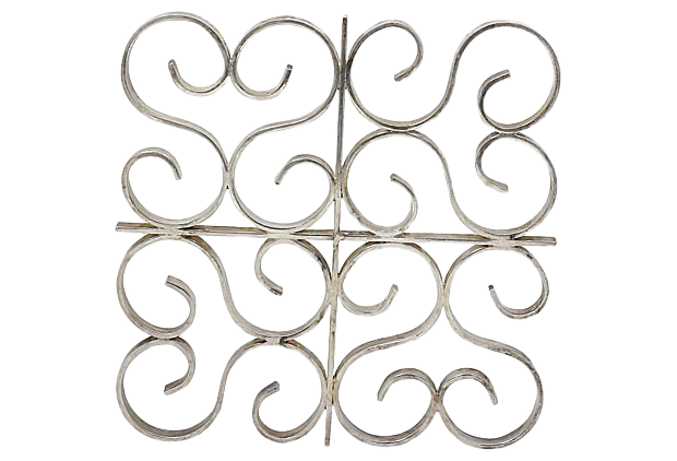 vintage used trivets for sale chairish Vintage Interior Decor mid century french christofle silver plate trivet