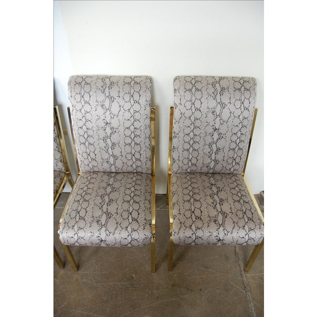 Python & Brass Vintage Dining Chairs - Set of 4 - Image 4 of 11