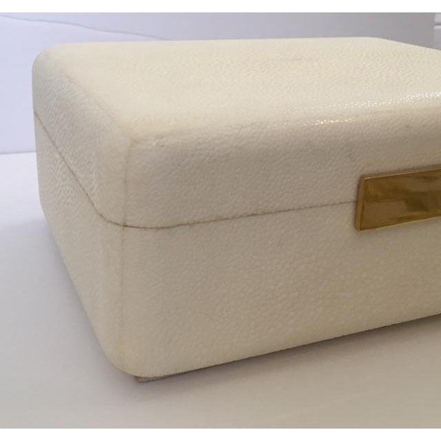 Cream Shagreen Jewelry Box - Image 4 of 6